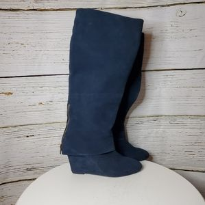 Steven by Steve Madden blue suede boots size 9